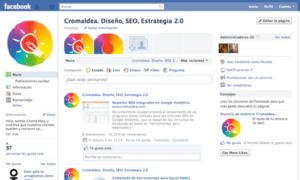 Antigua página de Facebook SEO Cromaidea