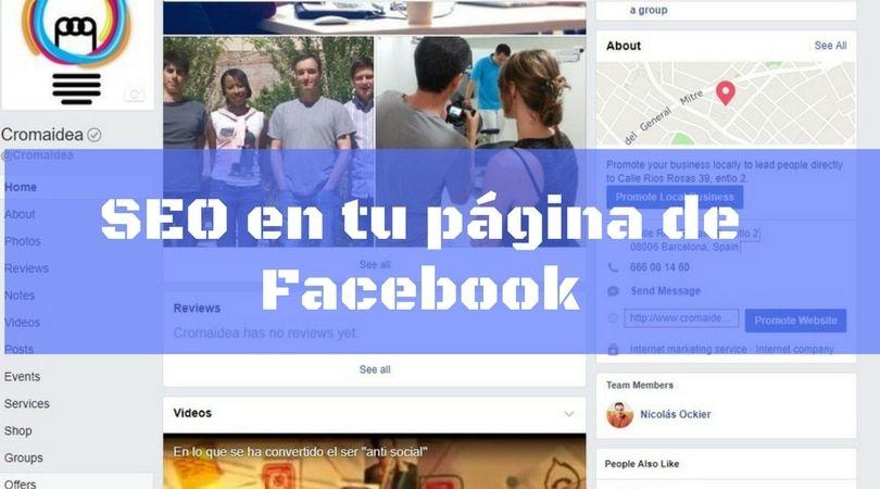 hacer seo en tu página de Facebook
