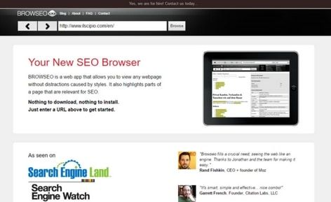 HomePage browseo