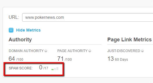 pokernew moz spam analysis
