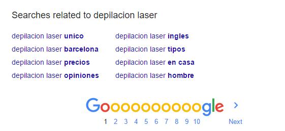 buesquedas relacionadas google