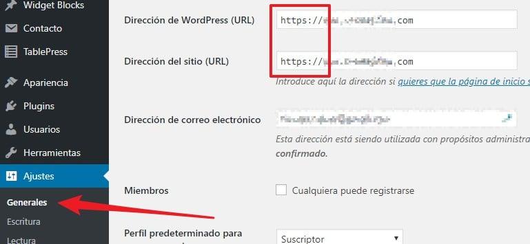 Configurar el certificado SSL para tu dominio