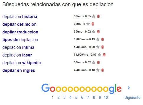 google busquedas relacionadas