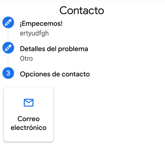 Contacto Google My Business