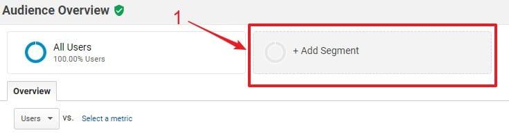 Crear segmento en Google Analytics