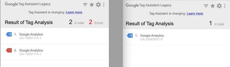 Extención de Chrome Tag Assistant
