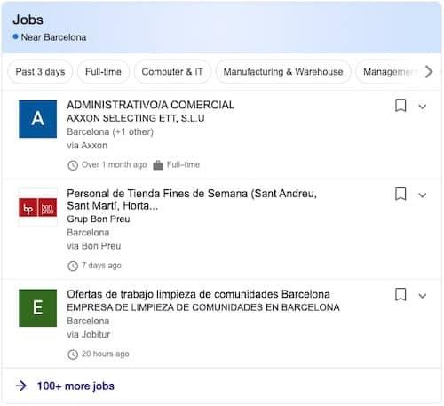 datos estructurados ofertas de empleo