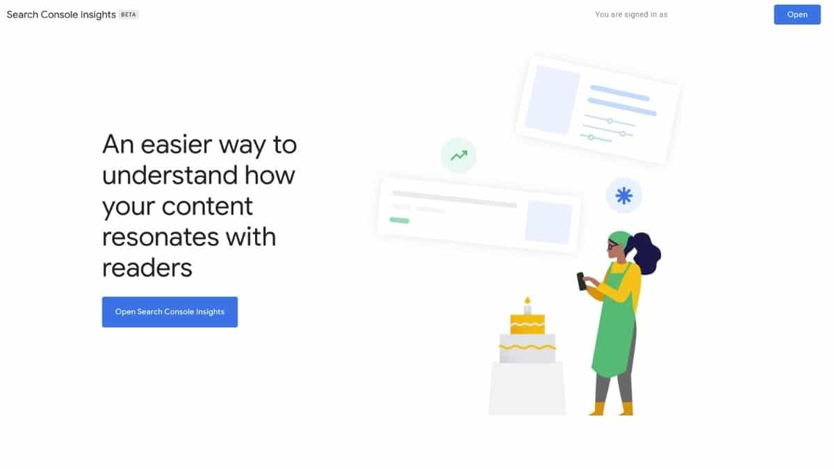seach console insights homepage banner