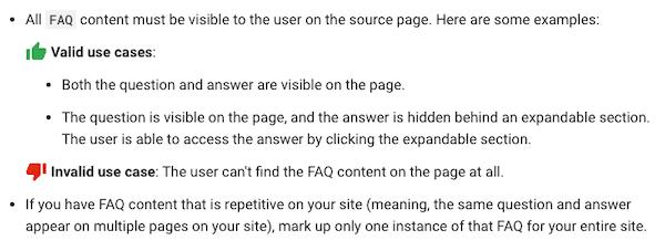 Nueva guía sobre datos estructurados para la sección FAQs